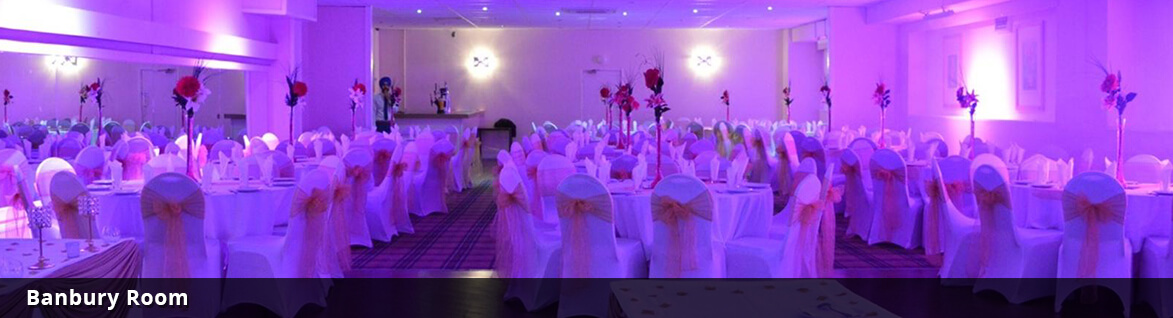 The Banbury Room Function Room Setup for a Wedding at Sports Connexion Coventry