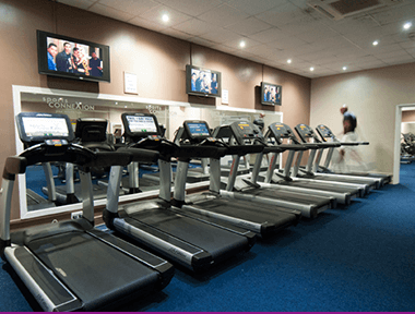 Inside our Coventry Gym image of our Treadmills in the Cardio Gym Section